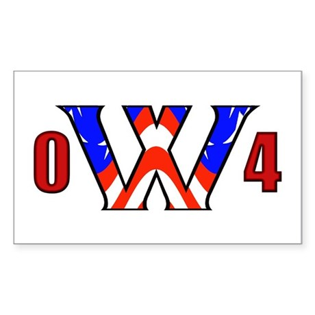W '04 Rectangle Sticker