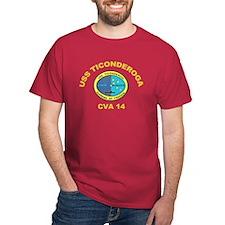 USS Ticonderoga CVA 14 T-Shirt