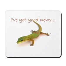 good news gecko Mousepad