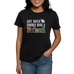 Shower With A Friend Women's Black T-Shirt