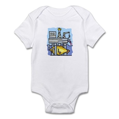 Off Shore Oil Rig Infant Bodysuit