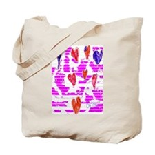Wall of Hearts Tote Bag