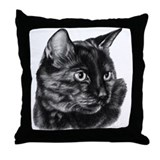 Tortoise Short-Hair Cat Throw Pillow