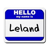 hello my name is leland  Mousepad