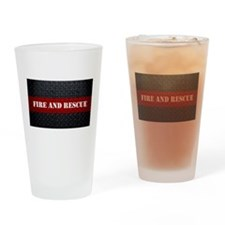 Fire and Rescue Diamond Plate Drinking Glass