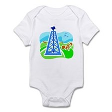 Oil Derrick Infant Bodysuit
