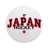 JP Japan Hockey Ornament (Round)