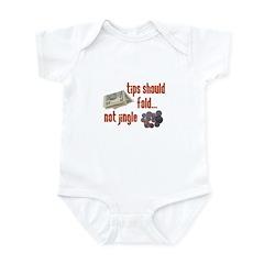 Tips should fold Infant Bodysuit