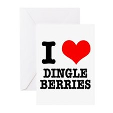 I Heart (Love) Dingleberries Greeting Cards (Packa