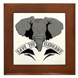 Save The Elephant Framed Tile