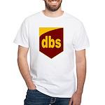 """Digital Brown"" White T-Shirt"