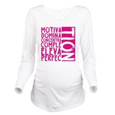 NEW MOTIVATION PNK Long Sleeve Maternity T-Shirt