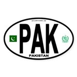 Pakistan Intl Oval Oval Sticker