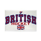 GB Great Britain Ice Hockey Rectangle Magnet