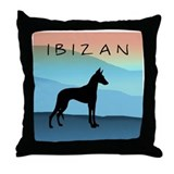 Ibizan Blue Mountains Throw Pillow