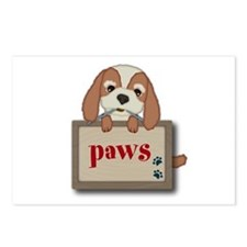 Customisable Cute Puppy Dog with Signboard Postcar