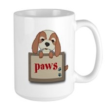 Customisable Cute Puppy Dog with Signboard Mugs