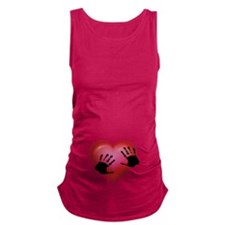 Handprints On Your Heart Maternity Tank Top