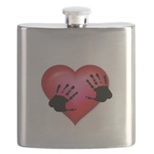 Handprints on your heart Flask
