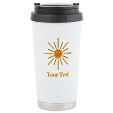 Summer Sun with Text. Travel Mug