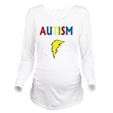 Autism is my Superpo Long Sleeve Maternity T-Shirt