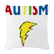 Autism is my Superpower Woven Throw Pillow