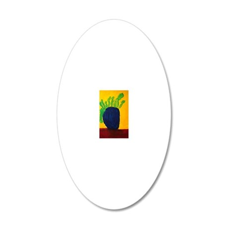 Blue Vase 20x12 Oval Wall Decal