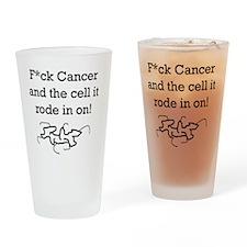 F^ckCancer Drinking Glass