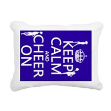 Keep Calm and Cheer on Rectangular Canvas Pillow