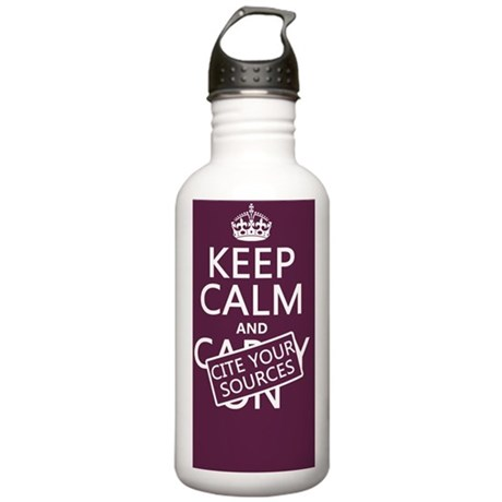 Keep Calm and Cite You Stainless Water Bottle 1.0L