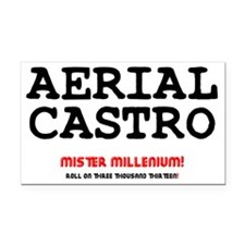 AERIAL CASTRO - ROLL ON THREE Rectangle Car Magnet