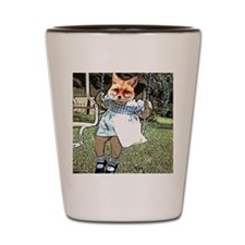 Red Fox Swings Shot Glass