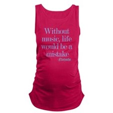 music and life Maternity Tank Top