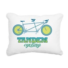 Retro Tandem Rectangular Canvas Pillow