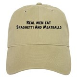 Men eat Spaghetti And Meatbal Baseball Cap