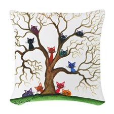 Fayetteville Stray Cats Woven Throw Pillow
