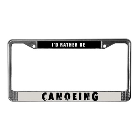 Canoeing License Plate Frame