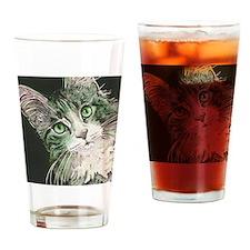 Gillian Cat by Lori Alexander Drinking Glass