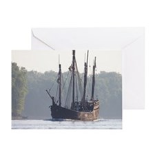 pinta and the nina Greeting Card