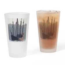 pinta and the nina Drinking Glass