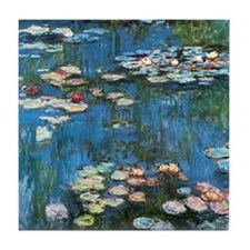 Waterlilies by Claude Monet, Vintage  Tile Coaster