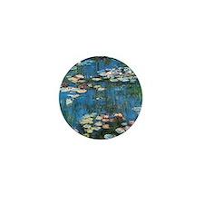 Waterlilies by Claude Monet, Vintage I Mini Button