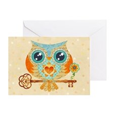 Owl's Summer Love Letters Greeting Card