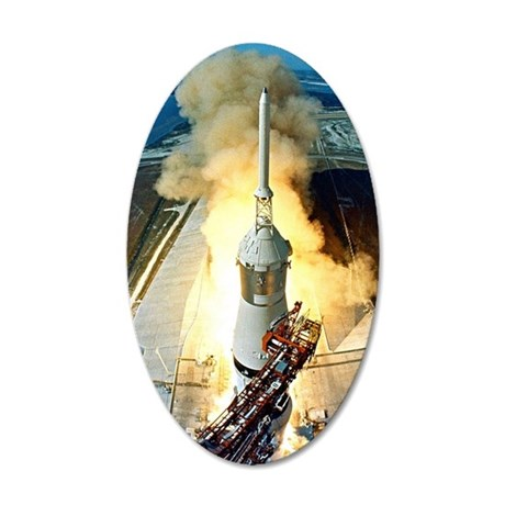 Apollo 11 Launch First moon  35x21 Oval Wall Decal