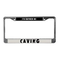 Caving License Plate Frame