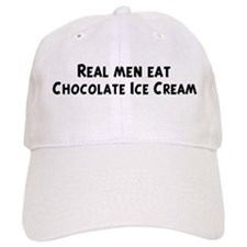 Men eat Chocolate Ice Cream Baseball Cap