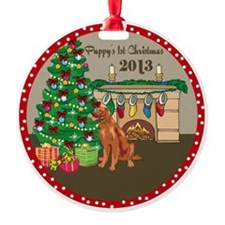 2013 Irish Setters 1St Christmas Ornament