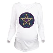 Purple Pentacle Long Sleeve Maternity T-Shirt