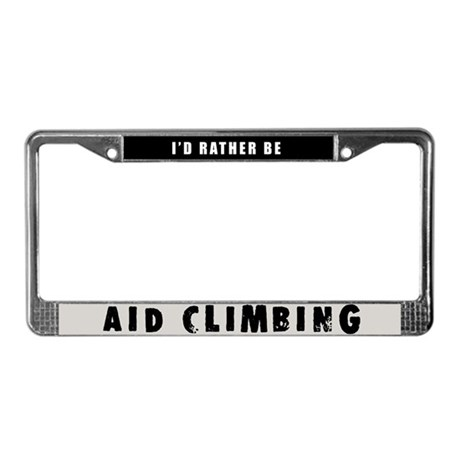Aid Climbing License Plate Frame