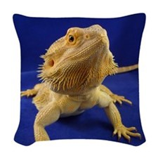 Bearded Dragon Woven Throw Pillow